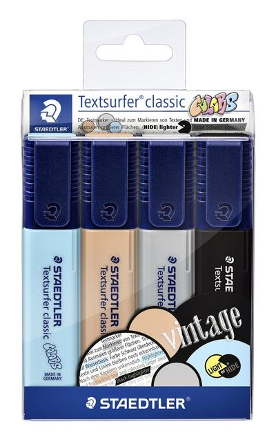 ,Markeerstift Staedtler 364 Textsurfer vintage set à 4 stuks assorti