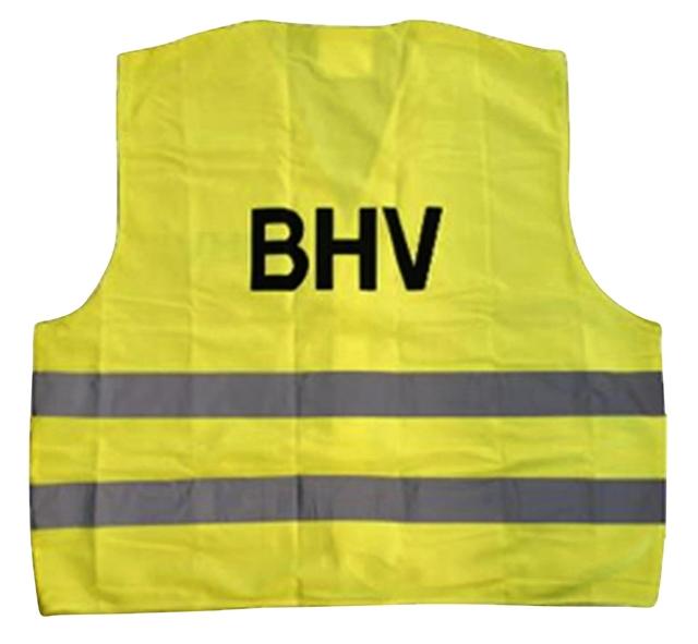 ,Veiligheidsvest BHV geel