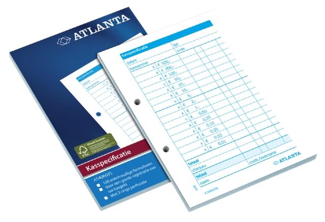 ,Kasspecificatie Atlanta A6 100vel