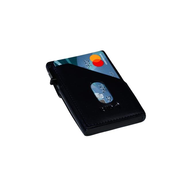 ,Kaarthouder Tony Perotti Slim Furbo RFID leer blauw