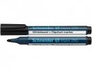 ,Viltstift Schneider 290 whiteboard rond zwart 2-3mm