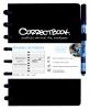 ,Notitieboek Correctbook uitwisbaar en herbruikbaar A5 zwart lijn 40blz
