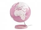 ,globe Bright Coral 30cm diameter kunststof voet met         verlichting