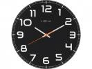 ,Wandklok NeXtime dia. 30 x 3.5 cm, glas, zwart, `Classy     Round`