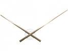 ,Wandklok NeXtime dia. 70cm, aluminium, koper/wit, `Hands`