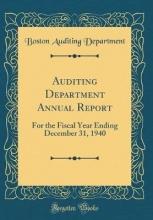 Department, Boston Auditing Department, B: Auditing Department Annual Report