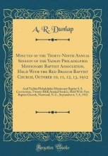 Dunlap, A. R. Dunlap, A: Minutes of the Thirty-Ninth Annual Session of the