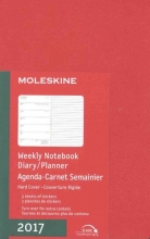 Moleskine 2017 Weekly Notebook, 12m, Pocket, Scarlet Red
