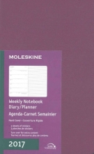 Moleskine 2017 Weekly Notebook Diary Planner, Large, Grape Violet