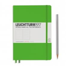 Lt357490 , Leuchtturm notitieboek medium 145x210 dot lichtgroen