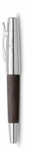 , vulpen Faber-Castell E-motion chroom/ zwart perenhout F