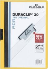 , Klemmap Durable 2200 A4 3mm geel