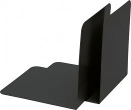 , boekensteun Alco 85x140x140mm metaal set a 2 stuks zwart