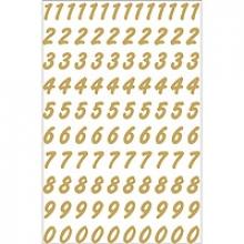 , Etiket Herma 4151 8mm getallen 0-9 goud op transparant 200st