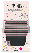 , Kleine portemonnee in zwart zalm, roze of zilvergrijs