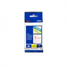 , Labeltape Brother P-touch TZE-222 9mm rood op wit