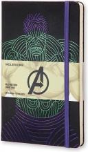 , Moleskine LE Notitieboek The Avengers notebook Large (13x21 cm) Gelinieerd Hulk