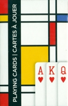 Pia-161315 Squares - mondriaan - speelkaarten - singlew deck - piatnik