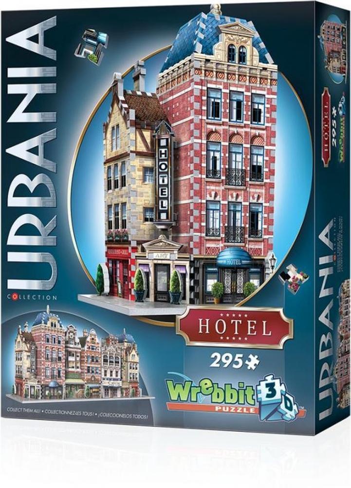 73d-0501,Puzzel 3d urbania  hotel wrebbit 295 stuks
