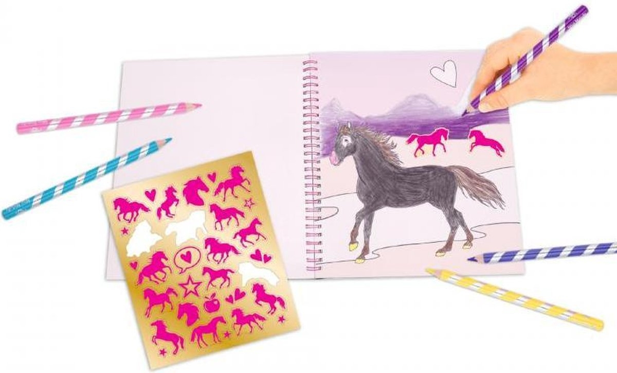 ,Miss melody kleurboek met pailletten