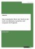 Ott, Alida, Das romantische Motiv der Nacht in der Lyrik von Brentano, Lamartine und Leopardi. Ein Vergleich
