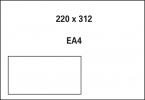 , akte envelop met venster Raadhuis 220x312mm C4 wit met      plakstrip doos a 250 stuks