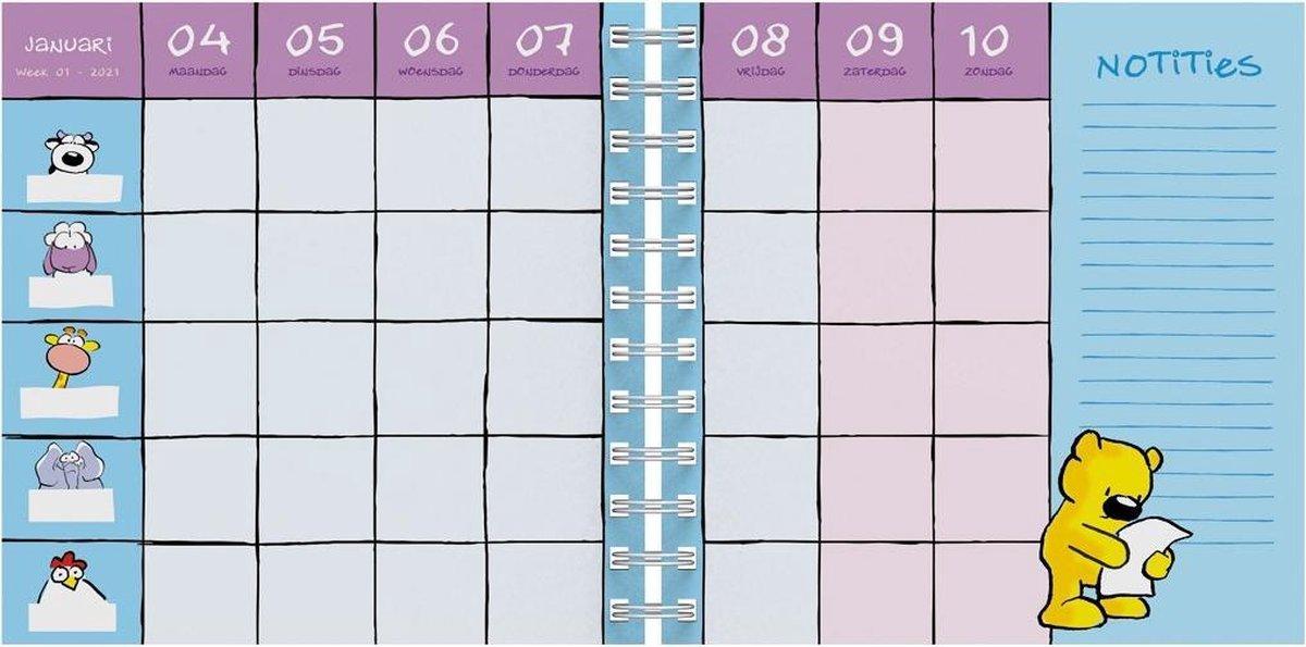 ,Familieagenda 2021 vis vierkant 16x16