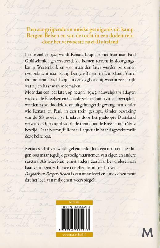 Renata Laqueur, Saskia Goldschmidt,Dagboek uit Bergen-Belsen