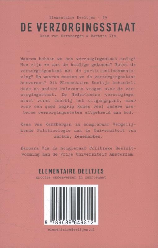 Kees van Kersbergen, Barbara Vis,De verzorgingsstaat