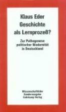 Eder, Klaus Geschichte als Lernproze