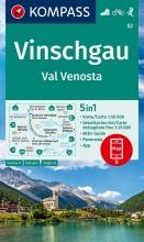 KOMPASS-Karten GmbH , KOMPASS Wanderkarte Vinschgau /Val Venosta 1:50 000