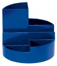 , Pennenkoker MAUL roundbox 6 vakken blauw