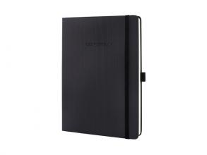 , notitieboek Sigel Conceptum Pure hardcover tablet formaat   zwart geruit