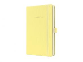 , notitieboek Sigel Conceptum Pure hardcover A5 Smooth Yellow geruit