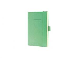 notitieboek Sigel Conceptum Look Felt A6 blanco softcover   lichtgroen