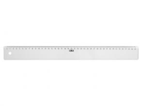 , Liniaal M+R 1140 400mm plastic transparant