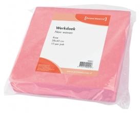 , Werkdoek Non Woven roze 38x40cm 10 stuks