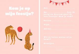 , Fabrique a la Carte Uitnodiging Kinderfeestje - Luipaard
