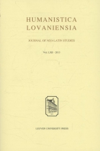 Humanistica lovaniensia Volume LXII 2013