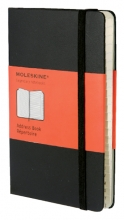 , Adresboek Moleskine pocket 90x140mm zwart