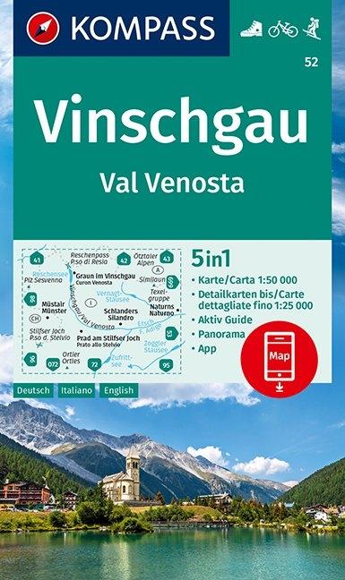 KOMPASS-Karten GmbH,KOMPASS Wanderkarte Vinschgau /Val Venosta 1:50 000