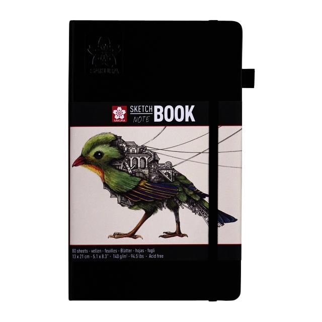 ,Schets-notitieboek Sakura 13x21cm wit