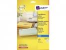 ,adresetiket Avery 63,5x38,1mm transparant 25 vel 21         etiketten per vel