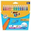 ,<b>Viltstift Bic 219 kid couleur 1131 assorti breed etui à 12st</b>