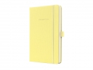 ,notitieboek Sigel Conceptum Pure hardcover A5 Smooth Yellow geruit