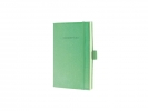 ,notitieboek Sigel Conceptum Look Felt A6 blanco softcover   lichtgroen