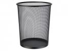 ,papierbak Alco metaal 15l. zwart, geperforeerd metaal