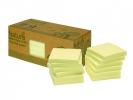 ,Info Notes 75x75mm geel recycled doos a 12 blok