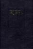 ,Huisbijbel Statenvertaling 17x25 zwart leer goudsnee