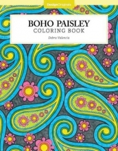 Debra Valencia Boho Paisley Coloring Book
